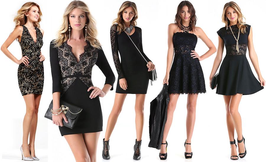 Все модели маленьких черные платьев